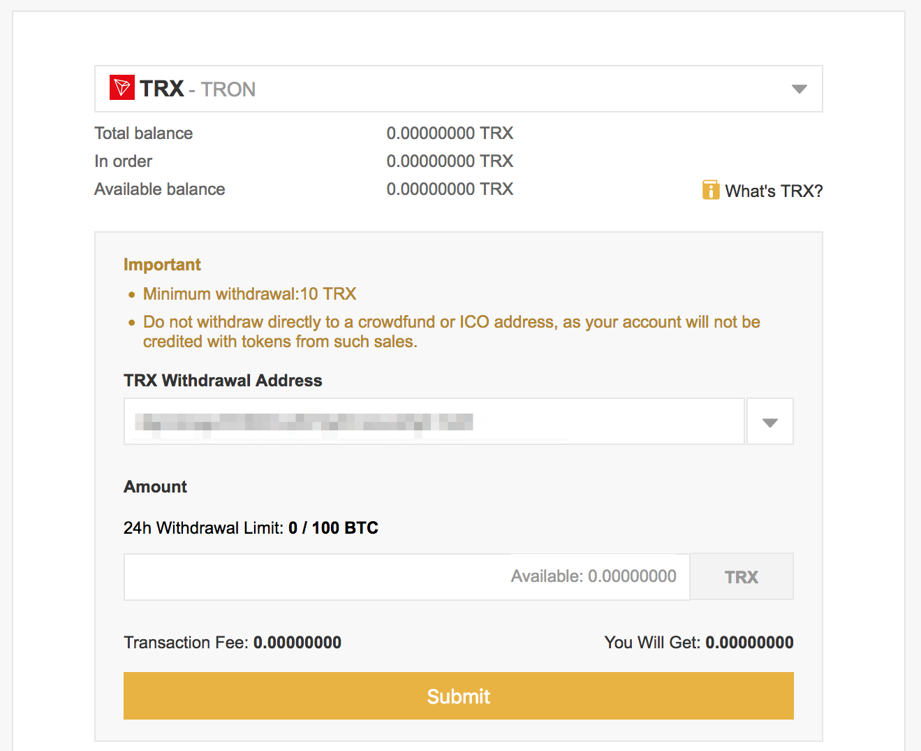 trx binance 3